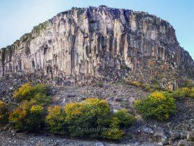 دره منشور های بازالتی قیرمیزیلیخ در آواجیق ماکو Volcanic Basalt Columns avajig Maku