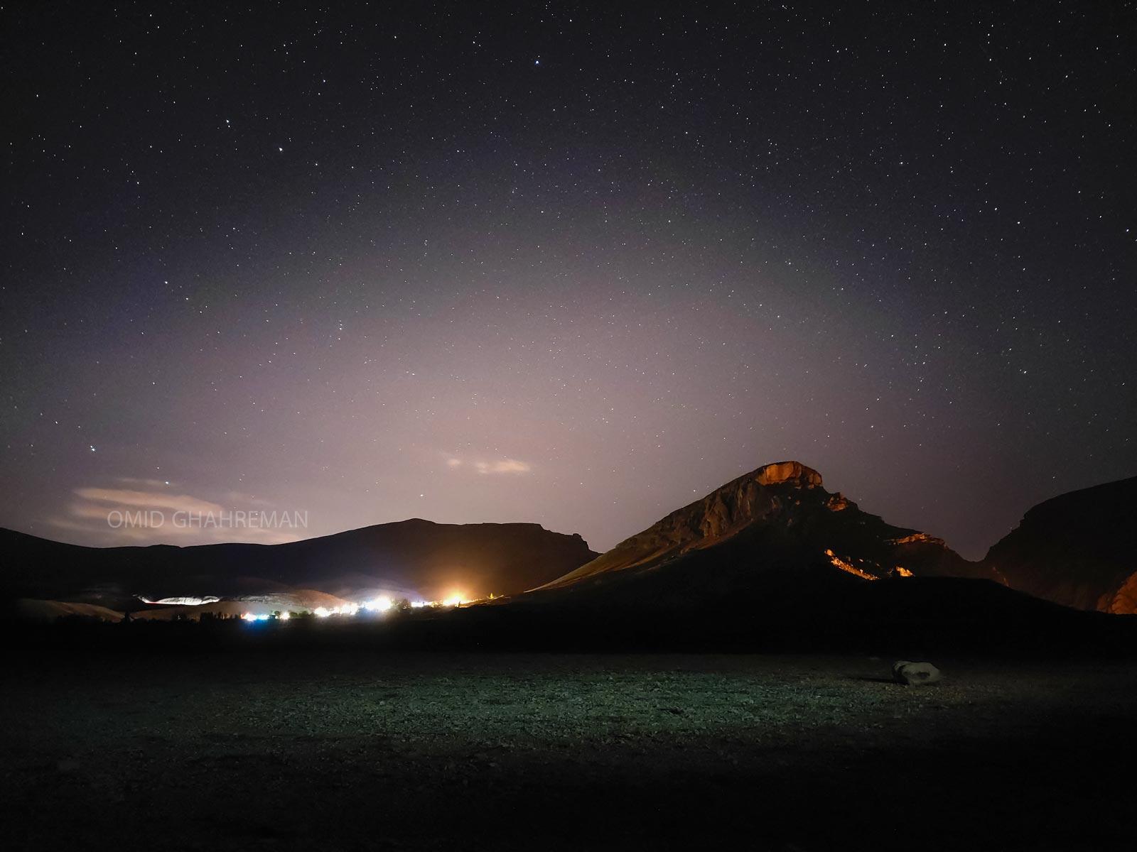 روستای بارون زیر نور ستارگان barun village