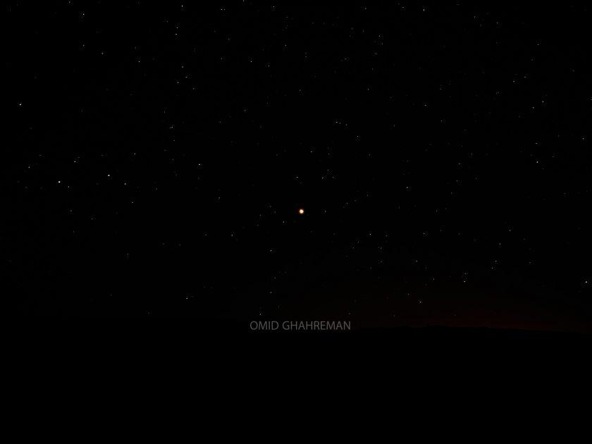 سیاره مریخ و یا همان مارس در شرق ماکو