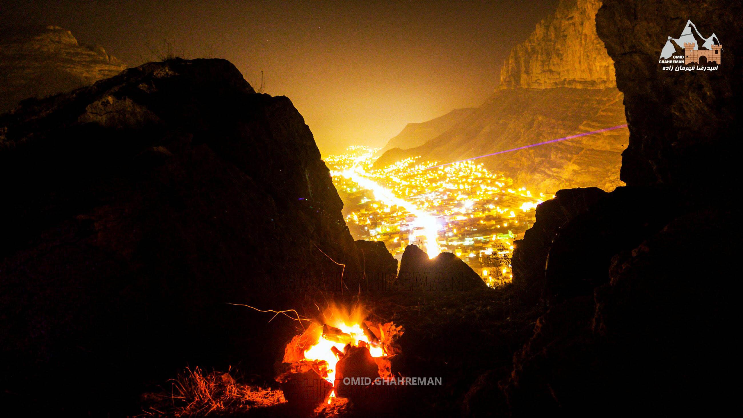 شب مانی در کوه قیه