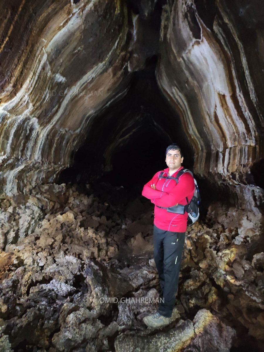 غار تیوب لاوا و امید قهرمان در طبیعت ماکو omid ghahreman