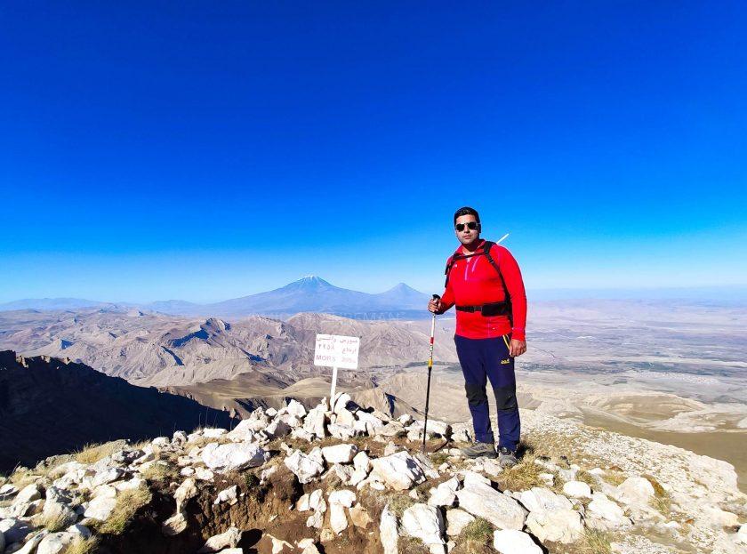 قله مورس مرتفع ترین کوه ماکو معروف به مورس داغی Kūh e Mūrs