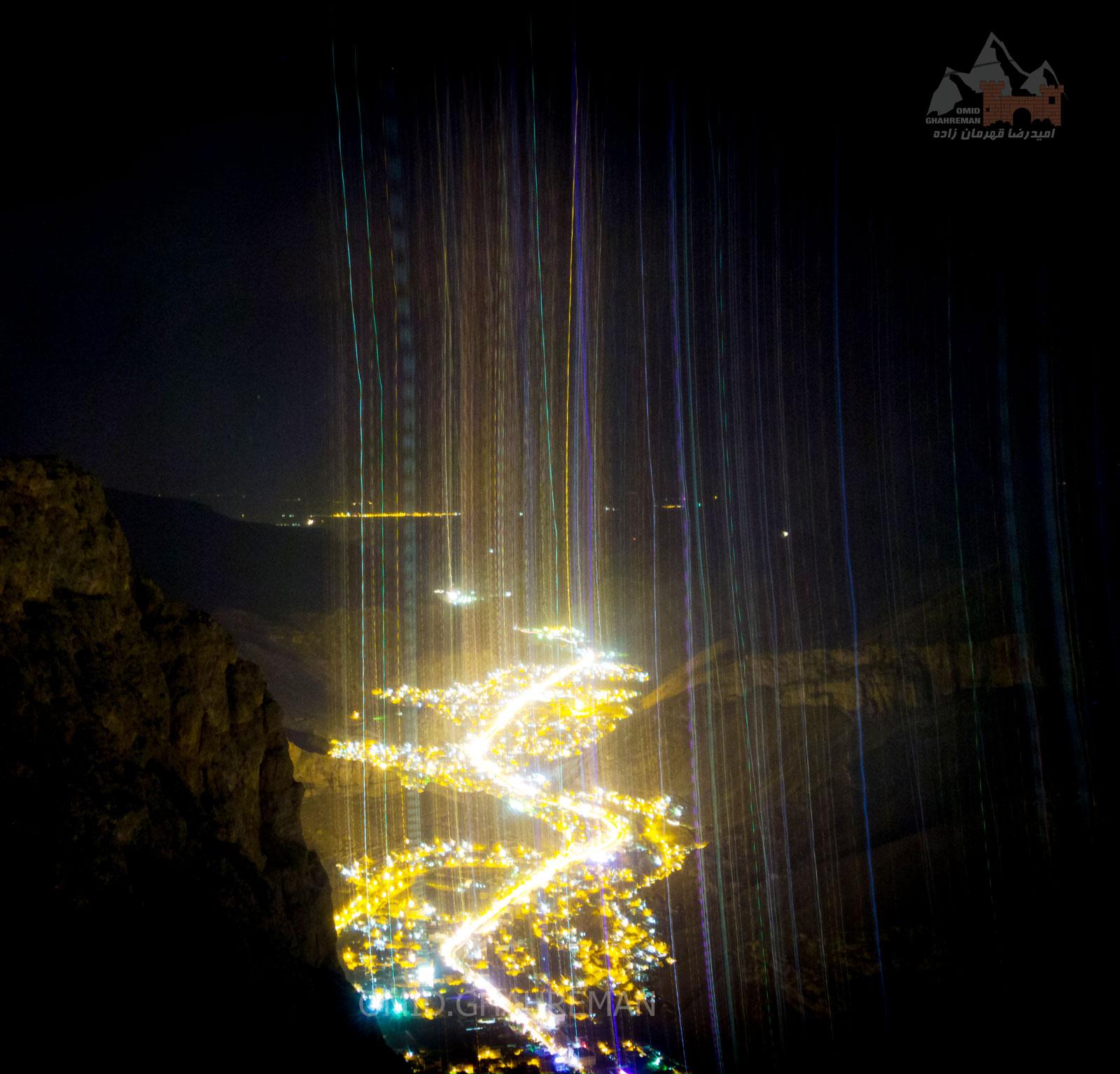 لحظه سقوط دوربین از بالای صخره