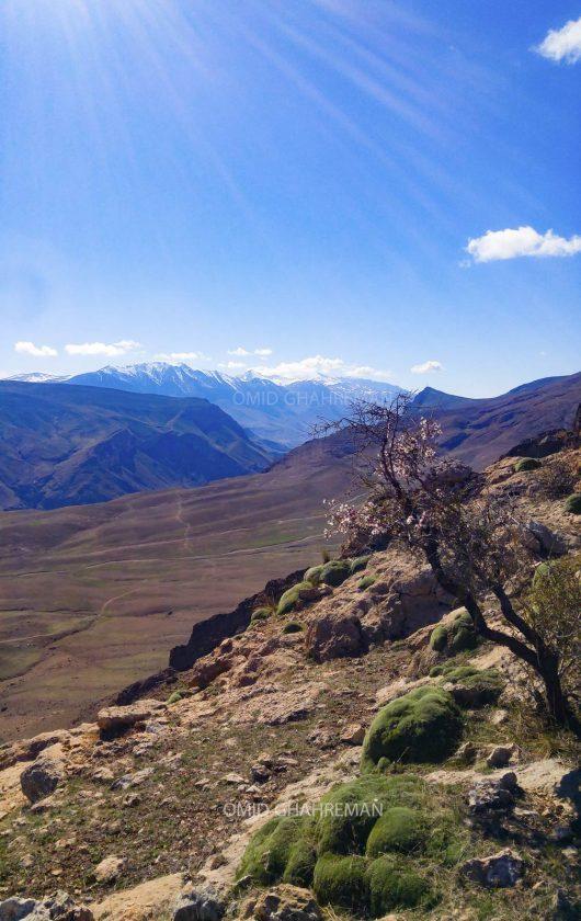 ماکو و کوه چرکین از ارتفاعات کوه های شمالی ماکو