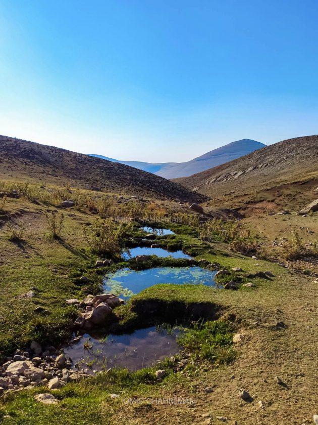 چشمه بالای روستای توریان در مسیر کوه چرکین