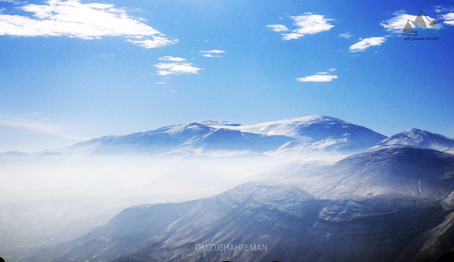 کوهستان قارلی در برف