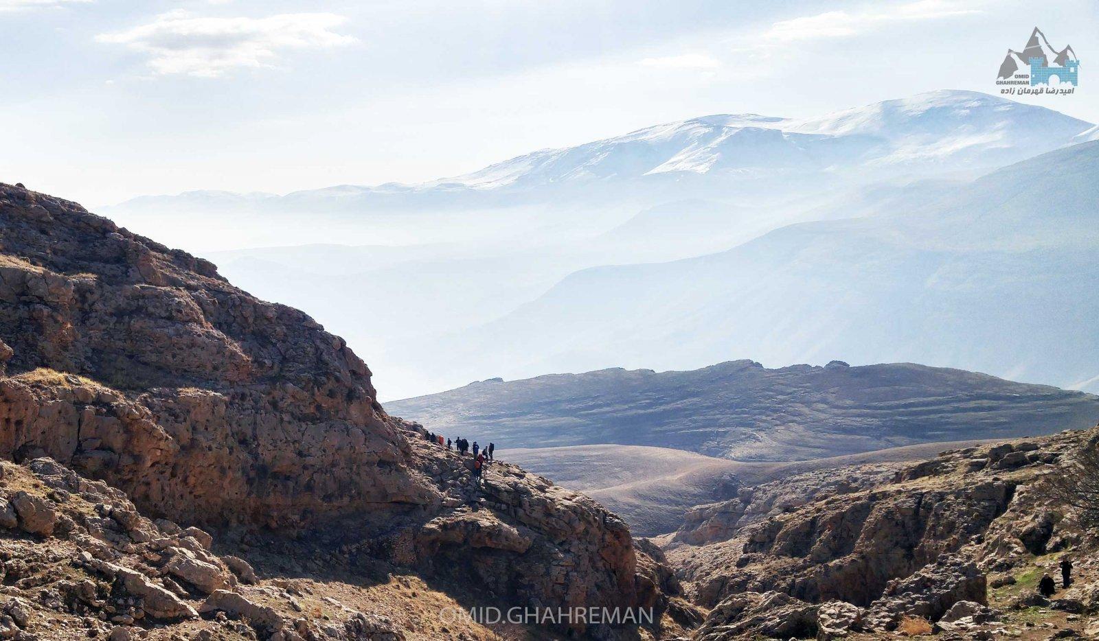 کوهنوردان در دره قوزلو