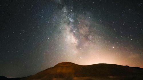 کوه های اطراف سد بارون و راه شیری در شب های ماکو Milkyway and maku