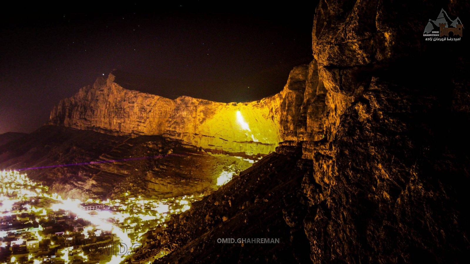 شب های دیواره سنگی قیه ماکو