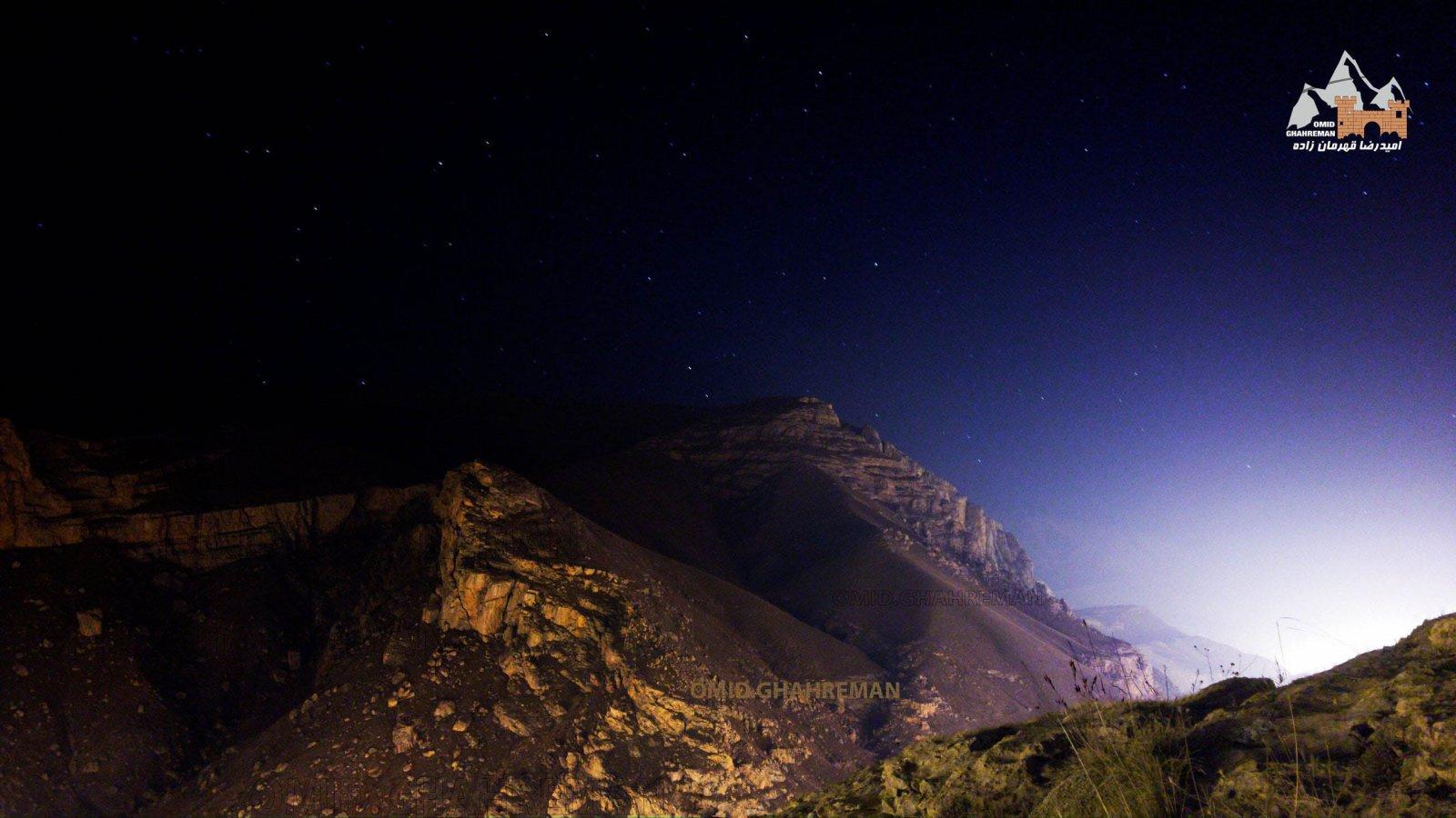 کوه سبد در شب