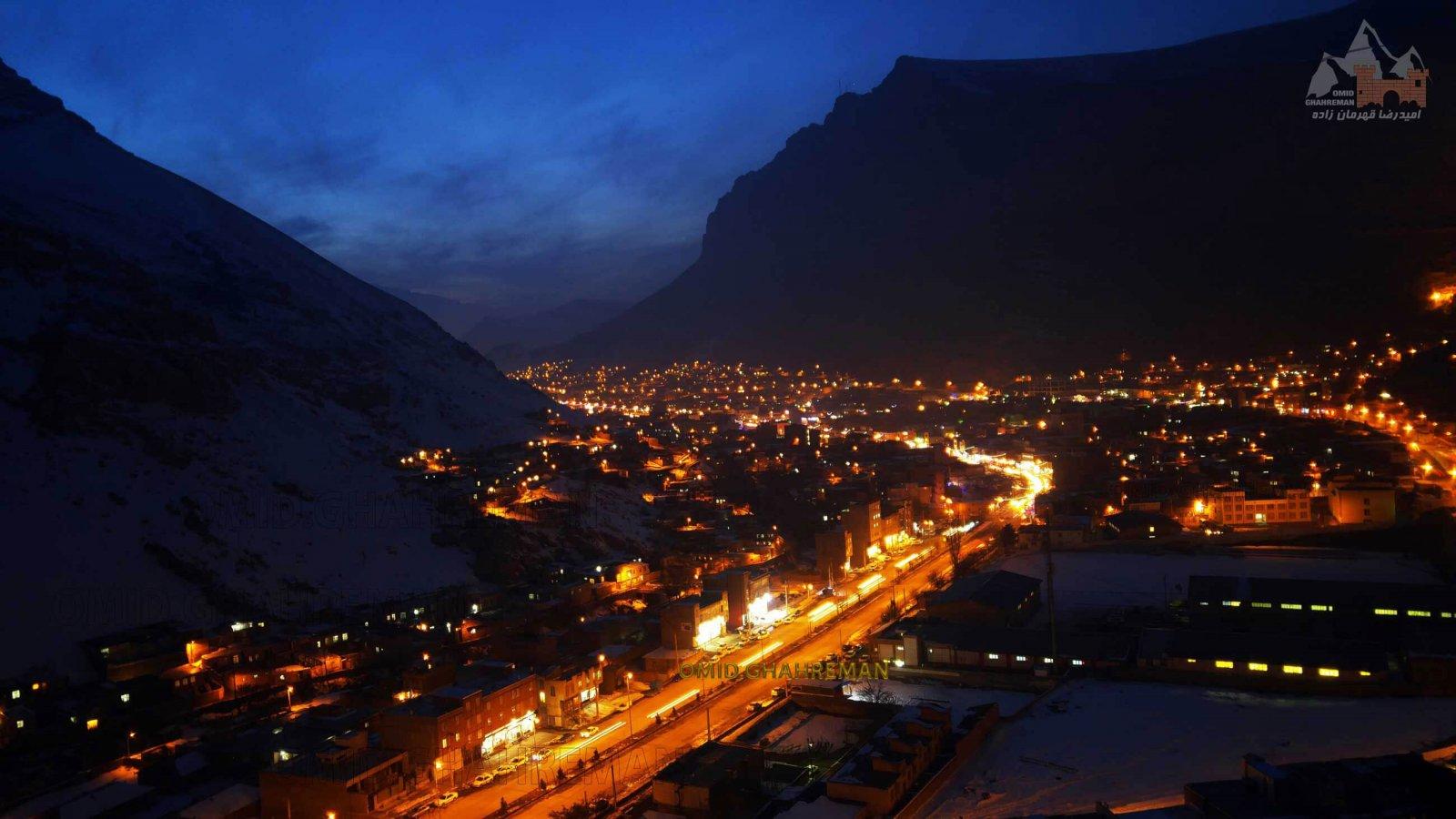 شب های شهر سنگی ماکو در زمستان