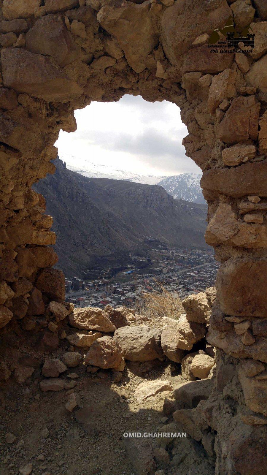 درب ورودی و اصلی قلعه قبان