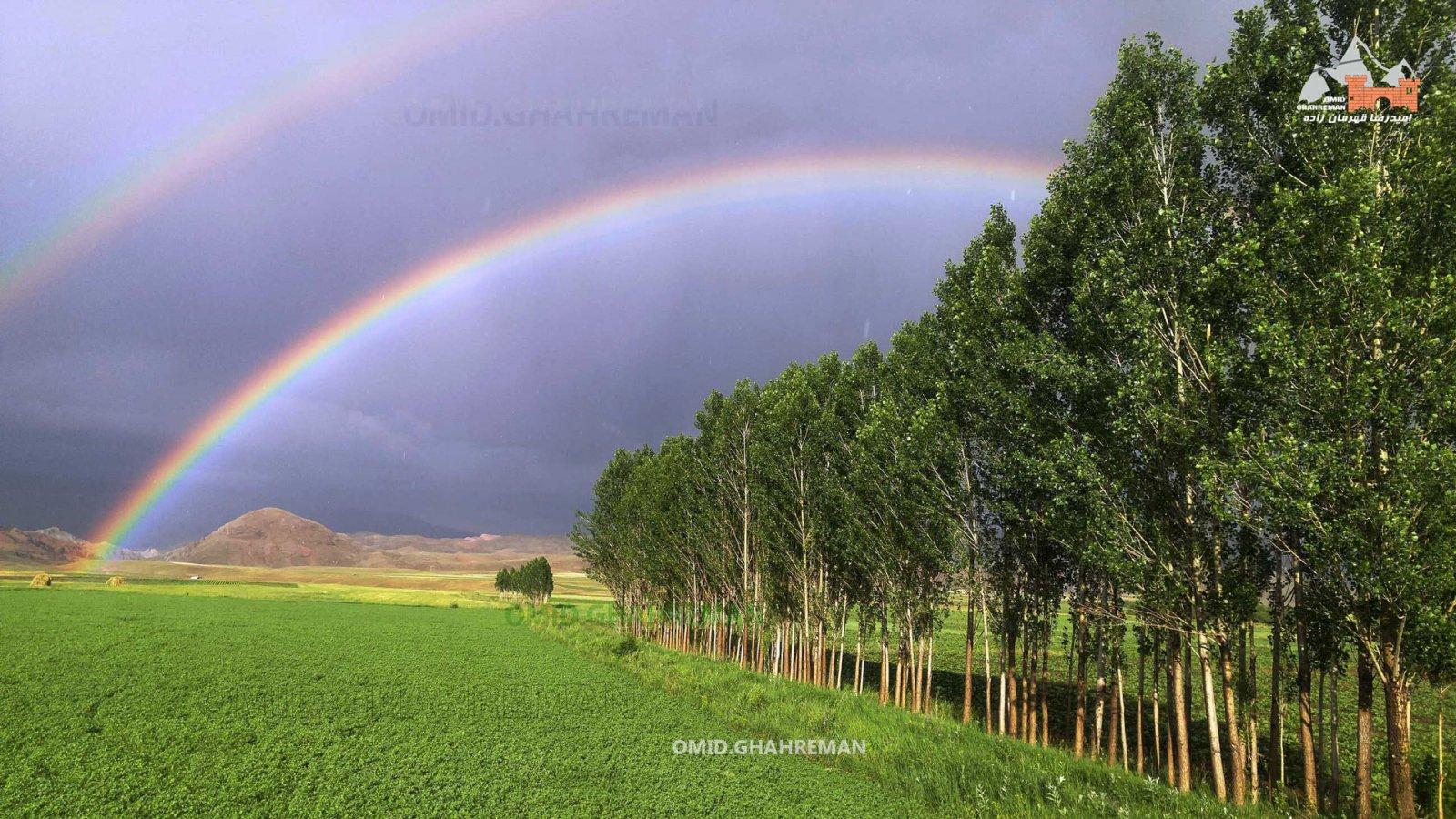 رنگین کمان در طبیعت ماکو