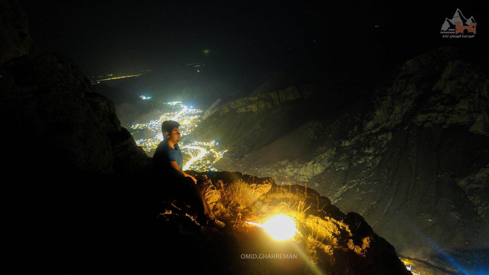 شب طلایی در کوهستان شهر سنگی ماکو بالای قیه