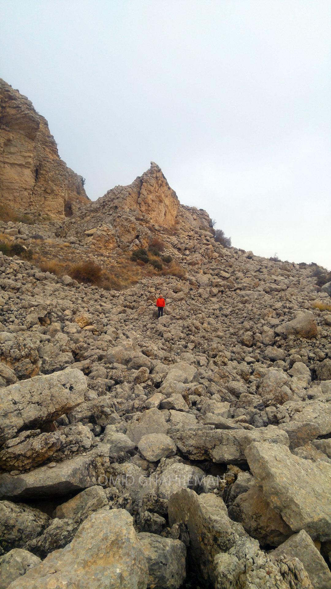 فرسایش کوهستان در کوه پایه های مورس ماکو