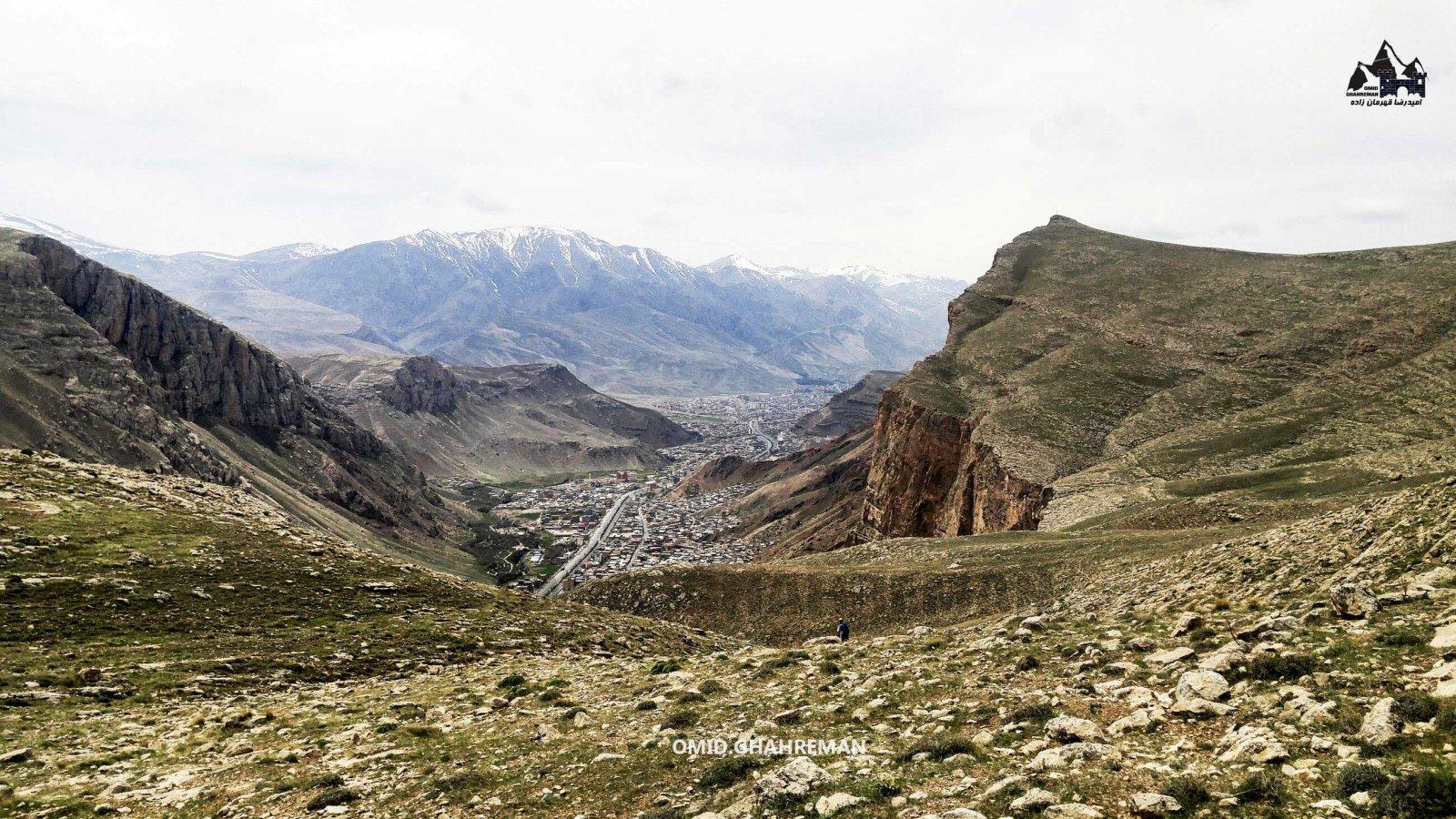 عکس هایی از مسیر دره قوزلو در شهر ماکو